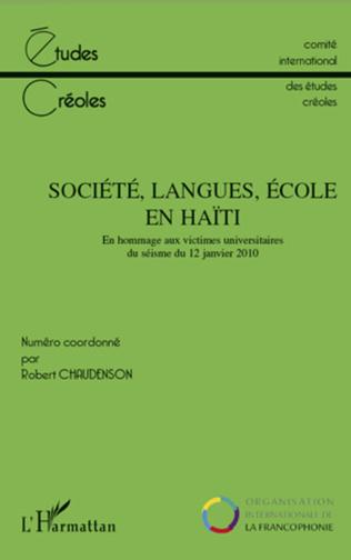 Couverture Société, langues, école en Haïti