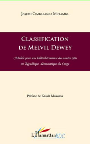 Couverture Classification de Melvil Dewey