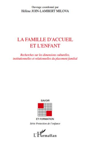 Couverture La famille d'accueil et l'enfant