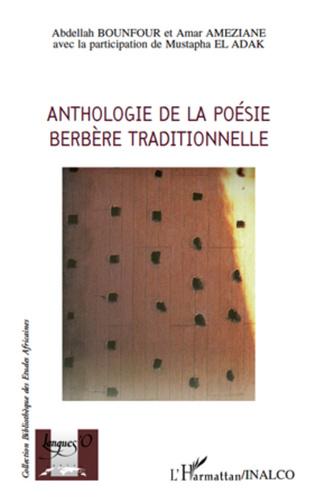 Couverture Anthologie de la poésie berbère traditionnelle