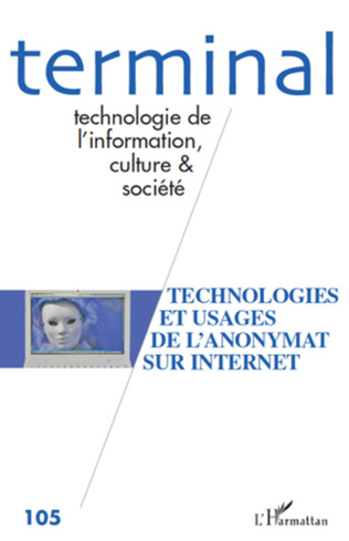 Couverture Technologies et usages de l'anonymat sur Internet
