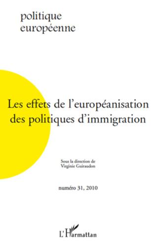 Couverture Les effets de l'européanisation des politiques d'immigration