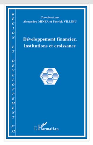 Couverture Développement financier, institutions et croissance