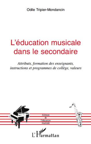 Couverture L'éducation musicale dans le secondaire