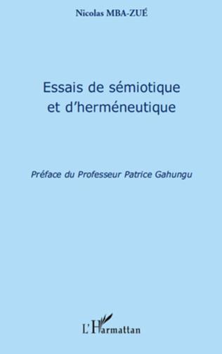 Couverture Essais de sémiotique et d'herméneutique