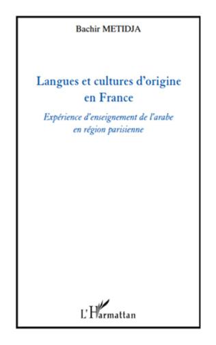 Couverture Langues et cultures d'origine en France