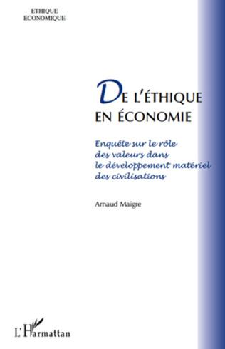 Couverture De l'éthique en économie