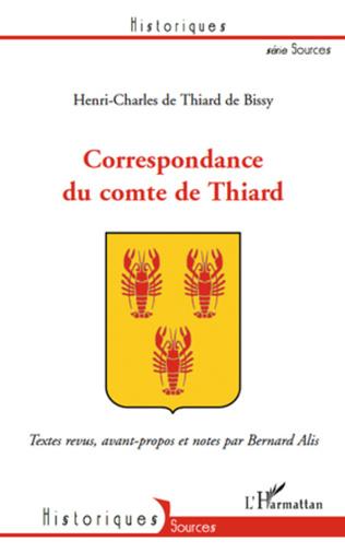 Couverture Correspondance du comte de Thiard