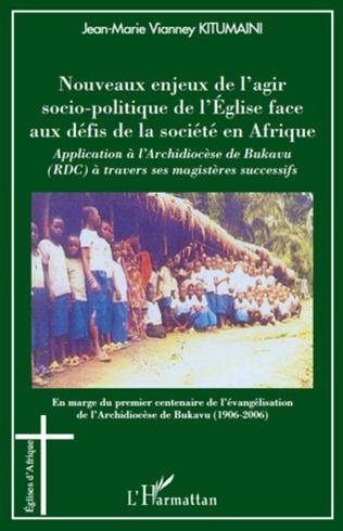 Couverture Nouveaux enjeux de l'agir socio-politique de l'Eglise face aux défis de la société en Afrique