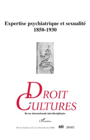 Couverture Expertise psychiatrique et sexualité 1850-1930