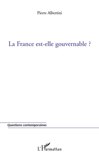 Couverture La France est-elle gouvernable ?