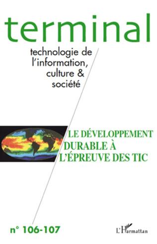 Couverture Le développement durable à l'épreuve des TIC