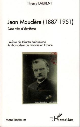Couverture Jean Mauclère (1887-1951)