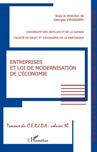 Couverture Entreprises et loi de modernisation de l'économie