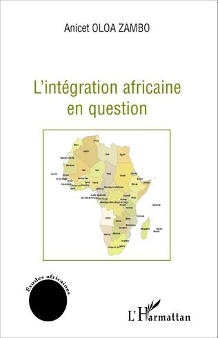 Couverture L'intégration africaine en question
