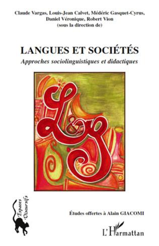 Couverture Langues et sociétés