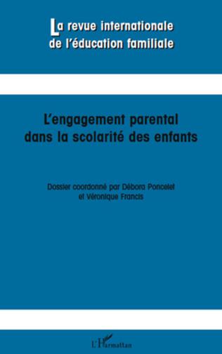 Couverture L'engagement parental dans la scolarité des enfants