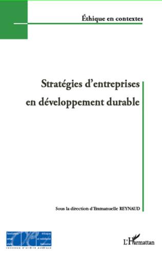 Couverture Stratégies d'entreprises en développement durable