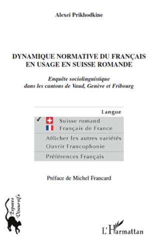 Couverture Dynamique normative du français en usage en Suisse romande