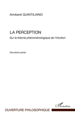Couverture La perception