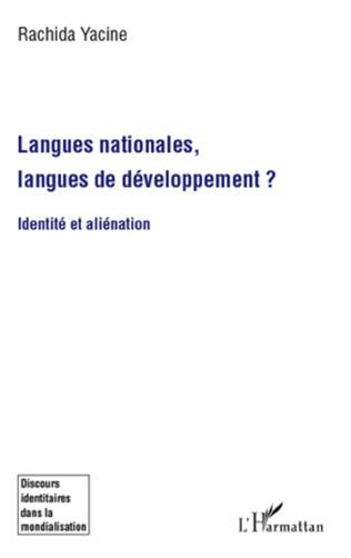 Couverture Langues nationales, langues de développement ?
