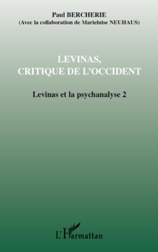 Couverture Lévinas, critique de l'Occident