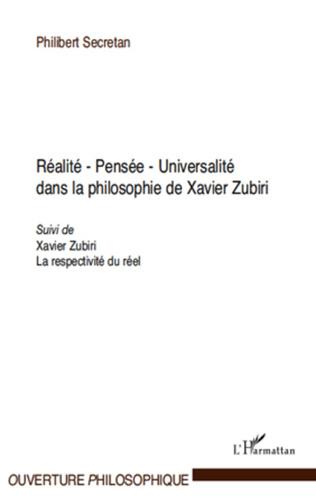 Couverture Réalité - Pensée - Universalité