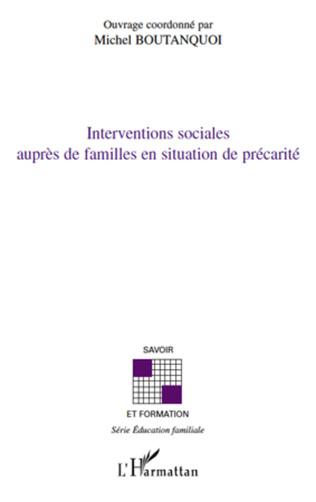 Couverture Interventions sociales auprès de familles en situation de précarité