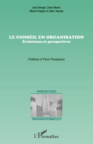 Couverture Le conseil en organisation