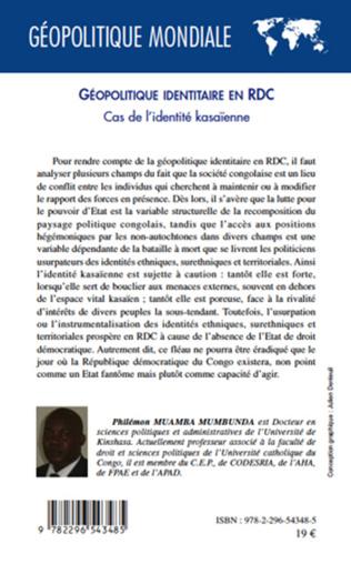 Couverture Géopolitique identitaire en RDC