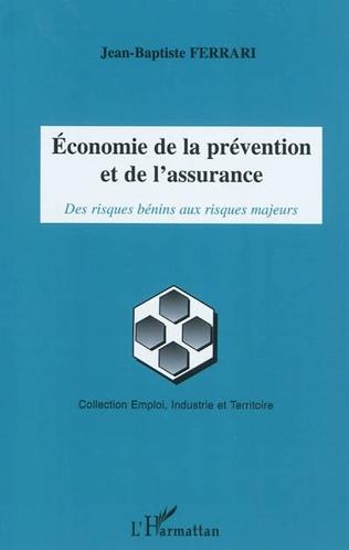 Couverture Economie de la prévention et de l'assurance