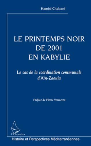 Couverture Le printemps noir de 2001 en Kabylie