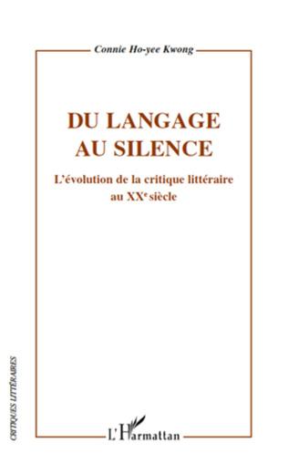 Couverture Du langage au silence