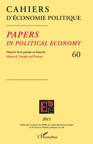 Couverture Cahiers d'économie politique