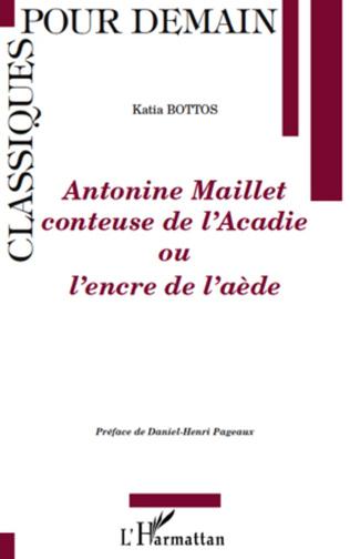 Couverture Antonine Maillet conteuse de l'Acadie