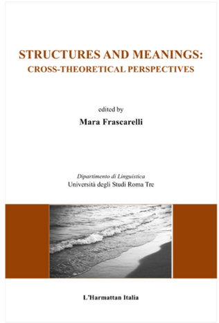 Couverture Structures and meanings: cross theoretical perspectives