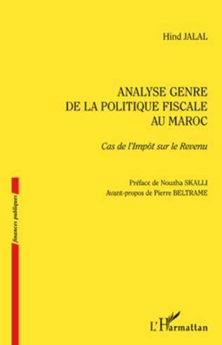 Couverture Analyse genre de la politique fiscale au Maroc