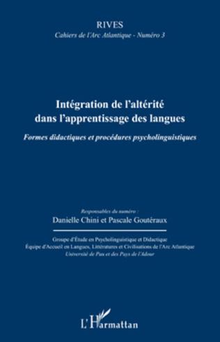 Couverture Intégration de l'altérité dans l'apprentissage des langues