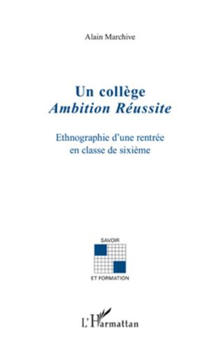 Couverture Un collège Ambition Réussite