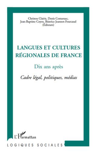Couverture Langues et cultures régionales de France