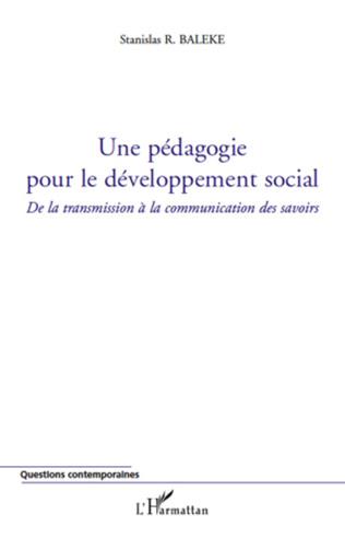 Couverture Une pédagogie pour le développement social