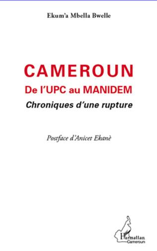 Couverture Cameroun De l'UPC au Manidem