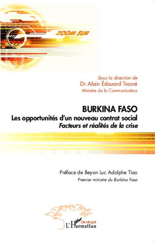 Couverture Burkina Faso Les opportunités d'un nouveau contrat social