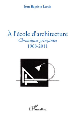 Couverture A l'école d'architecture