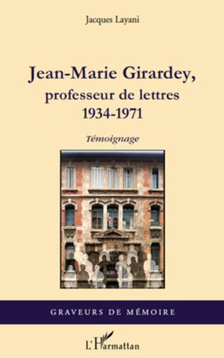 Couverture Jean-Marie Girardey, professeur de lettres
