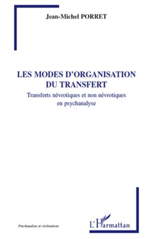 Couverture Les modes d'organisation du transfert