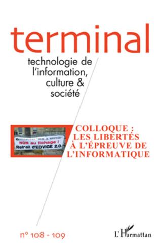 Couverture Colloque : Les libertés à l'épreuve de l'informatique