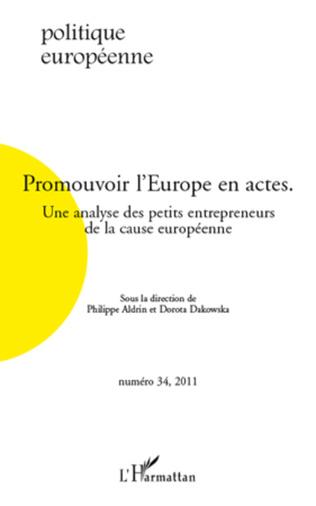Couverture Promouvoir l'Europe en actes