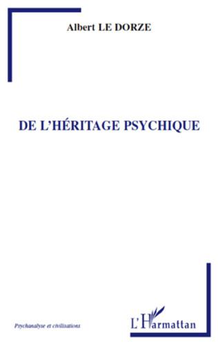 Couverture De l'héritage psychique