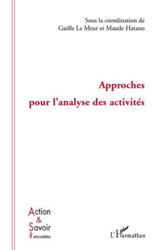 Couverture Approches pour l'analyse des activités